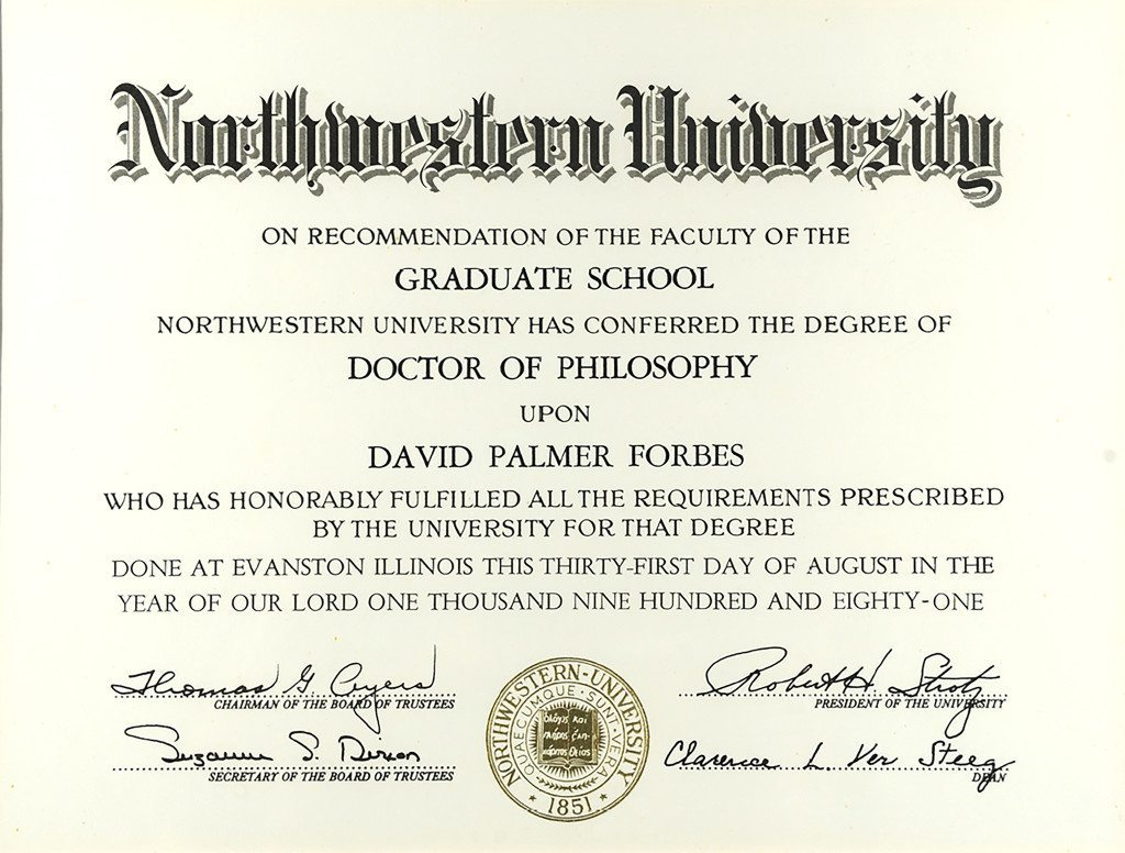 Northwestern University Doctor of Philosophy
