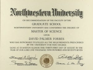 Northwestern University Master of Science