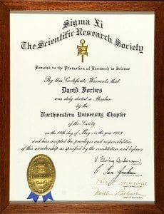 Sigma Xi Honorary Scientific Research Society